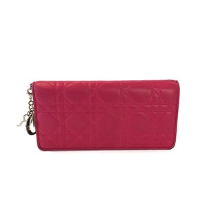 Dior Christian Dior Cannage Quilted Wallet