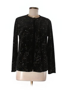 Notations Holiday Embellished Date Night Christmas Top black and silver