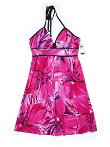 Byer California short dress Pink, black and white Sexy Beach Party Wedding Halter on Tradesy