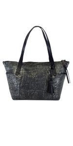 Cole Haan Grey Snakeskin Leather Tote