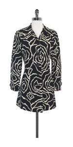 Trina Turk Black Cream Print Cotton Jacket