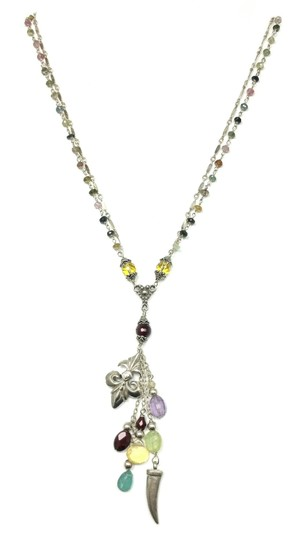 Preload https://img-static.tradesy.com/item/20130933/multicolore-sterling-fleur-de-lis-tourmaline-necklace-0-0-540-540.jpg