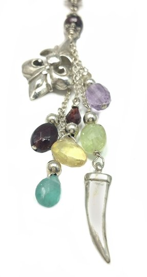 Kinley Sterling Fleur-de-lis Kinley Necklace in Tourmaline Image 3