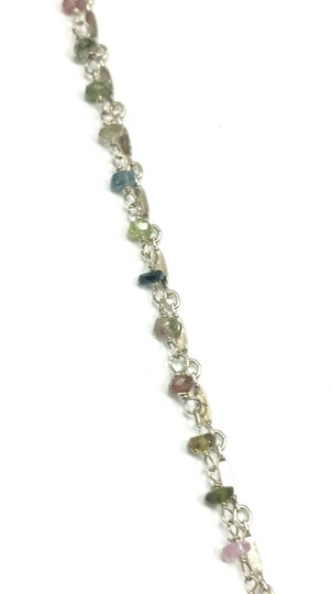 Kinley Sterling Fleur-de-lis Kinley Necklace in Tourmaline Image 5