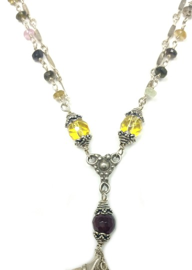 Kinley Sterling Fleur-de-lis Kinley Necklace in Tourmaline Image 6