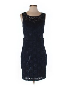 Trixxi Black Gorgeous Black Lace Dress With Sequin Dress