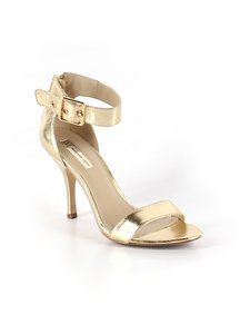 INC International Concepts Gold Strappy Wedding Shoes Wedding Shoes