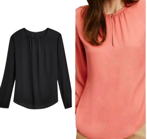 Ann Taylor Top Black AND Faded Coral