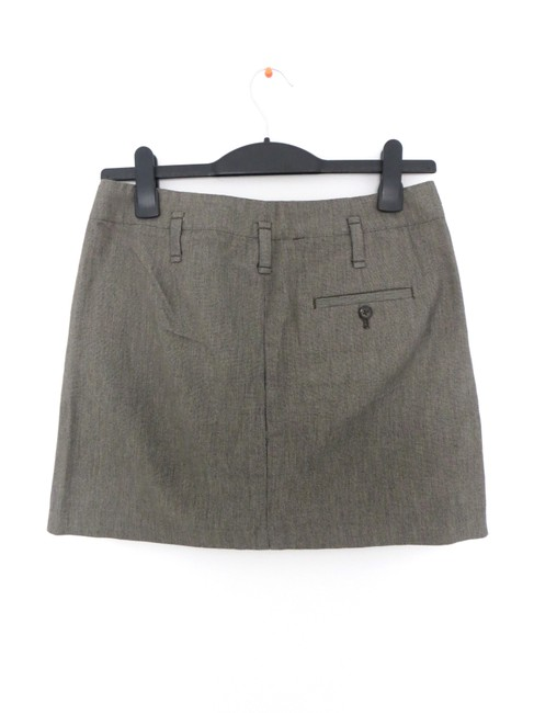 Gap Tweed Pleated Mini Schoolgirl Mini Skirt black, white, gray