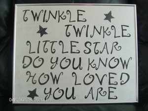 Twinkle Twinkle Little Star Wall Plaque