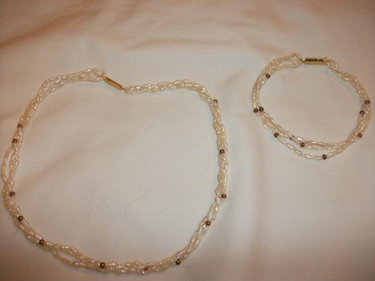 Rice pearls SOLD ~ Rice Pearl Necklace and bracelet set