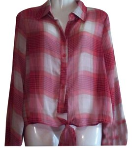 Juicebox Blouses Shirts Longsleeve Womens Button Down Shirt