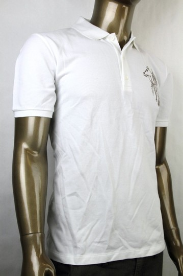 Gucci White New Men's Slim Fit Embroidered Horse Polo Top 3xl 338567 9000 Shirt Image 1