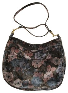 Carpetbags of America Velvet Velour Floral Shoulder Bag