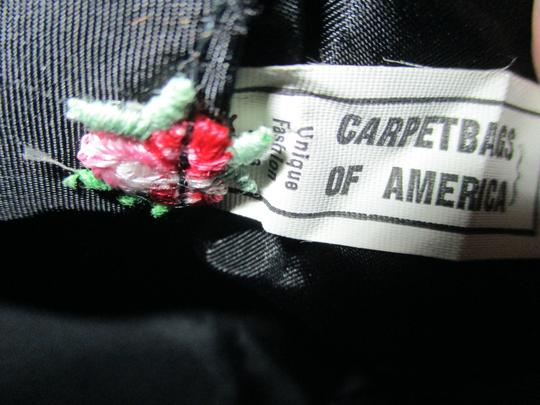 Carpetbags of America Velvet Velour Floral Shoulder Bag Image 4