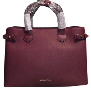 Burberry London Tote in Mahogany Red