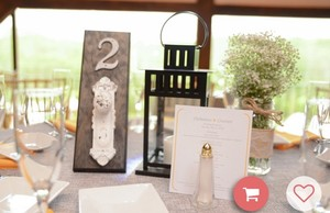 Doorknob Table Numbers - Adorable!