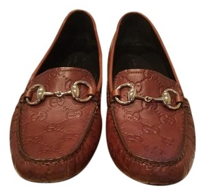 Gucci Gg Dressage Loafers Brown Flats