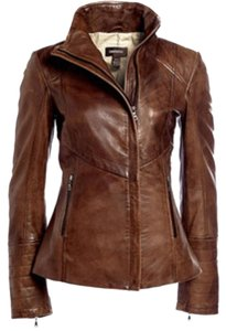 Danier Tobacco Leather Jacket