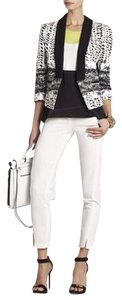 BCBGMAXAZRIA Black And White Printed Blazer