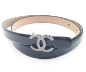 Chanel Chanel Classic Black Patent Leather CC Belt