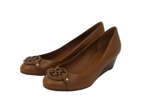 Tory Burch Mini Miller Vegan Leather Leather Royal Tan Wedges