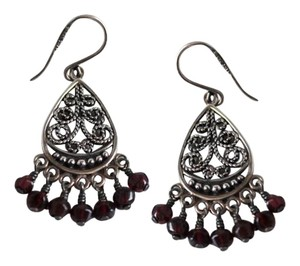 Silpada Silpada sterling silver and garnet mini chandiliers