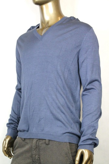 Gucci Dark Blue New Men's Silk V-neck Sweater 3xl 343442 4020 Groomsman Gift Image 3