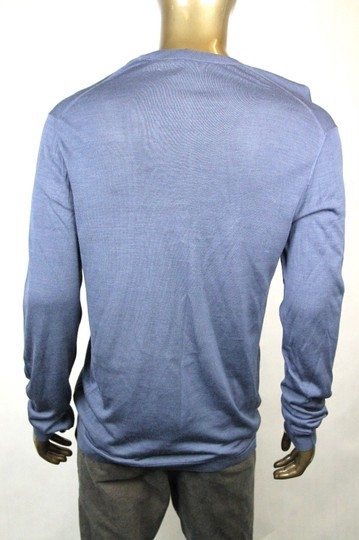 Gucci Dark Blue New Men's Silk V-neck Sweater 3xl 343442 4020 Groomsman Gift Image 4
