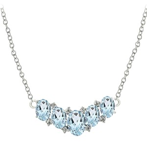 9.2.5 Very unique 5 stone blue topaz royal princess necklace