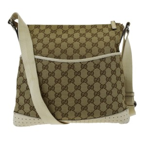 9ba28efb32483e Gucci Shoulder Gg Pattern Canvas Leather Brown Men Tote Cross Body ...