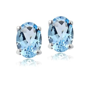 9.2.5 Beautiful 1ct oval blue topaz earrings