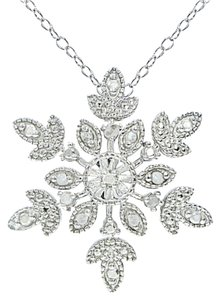 9.2.5 Gorgeous sterling silver diamond snowflake necklace