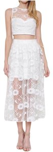 L'ATISTE Lace Two Piece Set Set Skirt And Top Bridal Dress