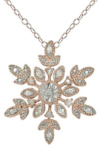 9.2.5 Gorgeous rose gold silver diamond snowflake necklace