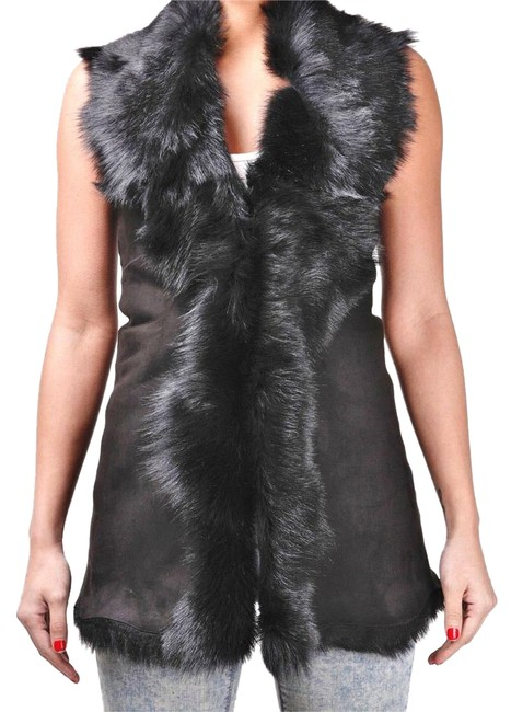 Toscana Shearling Lamb Sheepskin Leather Vest Image 0