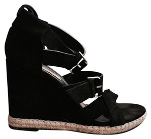 Balenciaga Black Suede Wedges