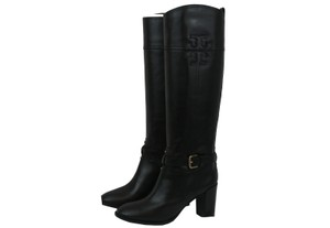 Tory Burch High Leather Black Boots