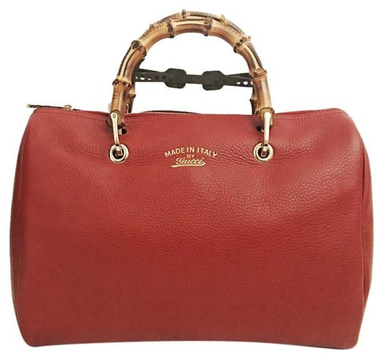Preload https://item4.tradesy.com/images/gucci-boston-bamboo-shopper-red-leather-satchel-20132053-0-1.jpg?width=440&height=440
