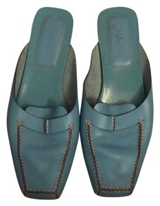 Chanel Turquoise Mules