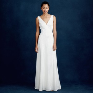 J.Crew Ivory Francoise Modern Wedding Dress Size 6 (S)