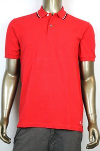 Gucci New Authentic Gucci Men's Jersey Polo Golf Shirt Red L 354345 6551