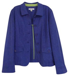 Coldwater Creek Blue Violet Lime Green Blazer