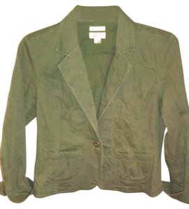 Christopher & Banks Green Womens Jean Jacket