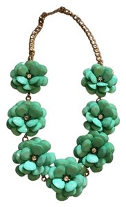 Other Teal Beaded Rose Chunky Necklace