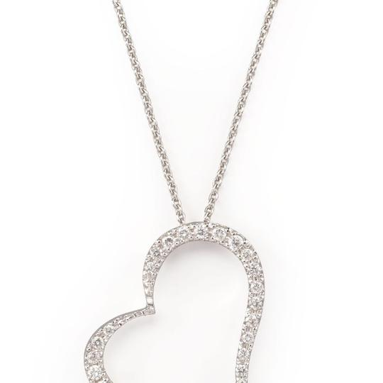 Roberto Coin Pave Heart Necklace Image 4