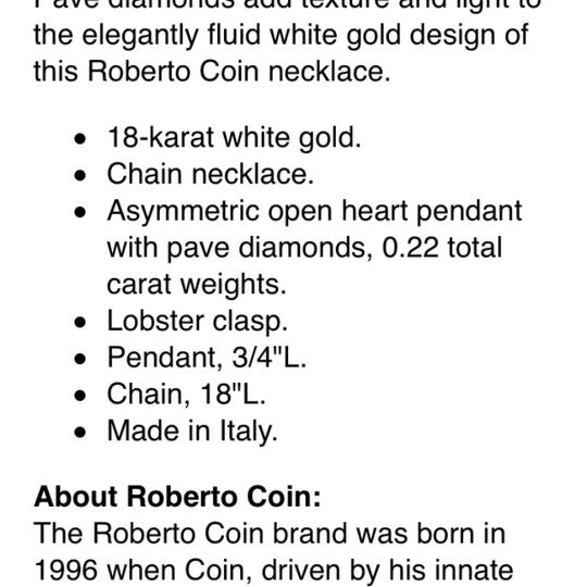 Roberto Coin Pave Heart Necklace Image 5