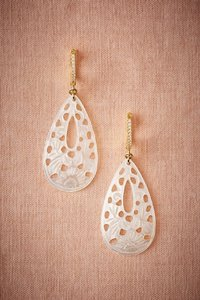 BHLDN Ivory Athens Carved Mother Of Pearl Earrings