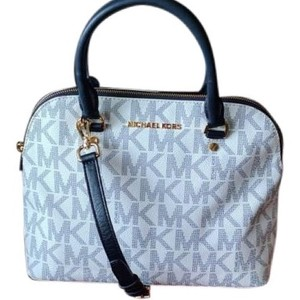 Michael Kors Saffiano Leather Satchel in Navy