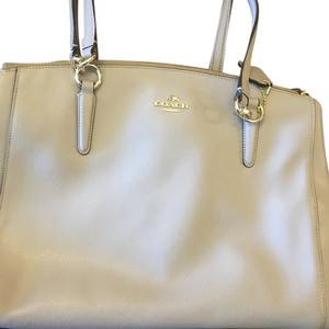 Coach Satchel in Silver/grey birch